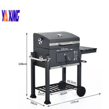 Square big cast iron Charcoal Grill