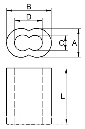 oval ferrule drawing