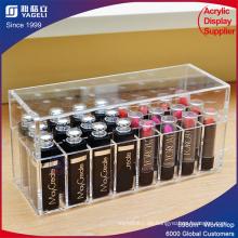 Acryl Kosmetik Lippenstift Halter Box mit Deckel