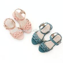 Fancy barato meninas sandálias flat verão sandálias meninas fivela pulseira