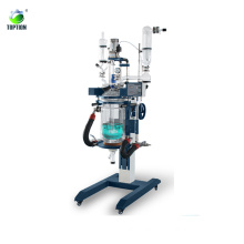 5L Dual Layer Chemical Mixing Glass Reactor