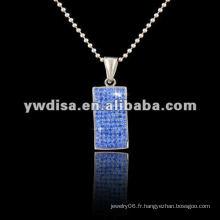 Pendentif en cristal, pendentif en bijoux, pendentif en acier inoxydable