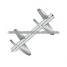 Secciones de doble hélice para el sistema de anclaje de tornillo de tubería