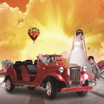 8 Seaters Electric Classic Car para casamento