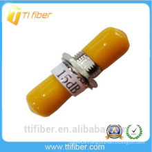 ST 15 dB Fixed type Fiber Optic Attenuator for telecommunication
