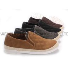 Zapatos de mujer ocio PU zapatos con suela de cuerda Snc-55004