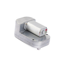 Factory sale worm dc motor 5nm 130 rpm dc motor with worm gearbox