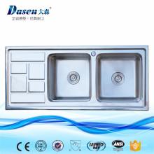 Neue Produkte Lowes Undermount Doppel-Utility Küchenspülen mit Abtropffläche