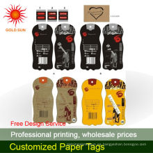 etiquetas colgantes de papel de diseño