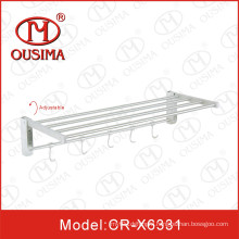 Adjustable Wall Mounted Stainless Steel Single Bathroom Towel Shelf