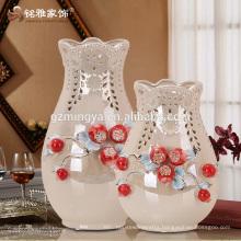 New arrival fashion decorative flower vase promotional gift flower pottery vase