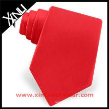 Gravata Best Ties em gravata de seda vermelha de cor sólida