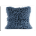 Mongolska Lamb Fur Pillow For Garden Decorative