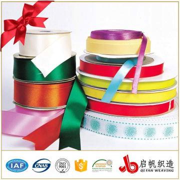 Colorful Custom logo size polyester printed satin ribbon