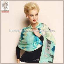 Gracia color gradiente hecha a mano bufanda larga mantón de lana
