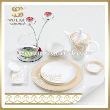 Ukraine turkish dinnerware set arabic with gold flower printing