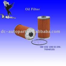 Lube Oil Filter Insert 102 180 01 09 For Mercedes-Benz