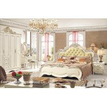 Ensemble de meubles de chambre classique en bois antique (HF-MG011)