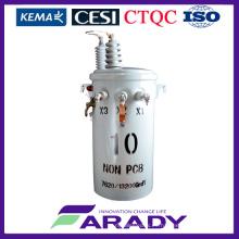13.2kv 10kVA aceite Immesed polo montado monofásico Csp transformador