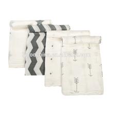 100% algodão de musselina 3pcs pack cobertor swaddle bebê softextile