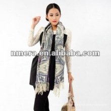 Duplex printing Guarantee fine pure wool woman scarves