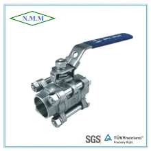 Stainless Steel Full Bore Socket Weld 3PC Ball Valve in 1000wog
