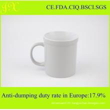 High Quality White Ceramic Coffee Mug in Colored Glazed