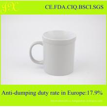 Высококачественная белая керамическая кружка для кофе в цветном остекленном