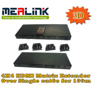 4 bis 4 Cat5e/6 HDMI Matrix Extender, 3D unterstützt