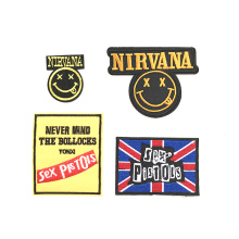Wholesale high quality garment accessories woven patch sew on custom clothing jeans patch