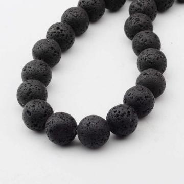 14MM Loose natural Lava stone Round Beads for Making jewelry