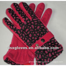 ladies cotton knitted gloves- can customized