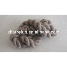 Dehaired Brown 100% Cashmere Tops China Manufacturer