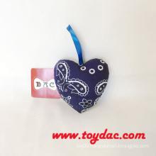 Cotton Fragrance Car Heart Key Ring