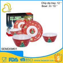 best selling melamine ware round shape melamine christmas dinnerware