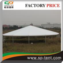 Tente en polygon à cadre en aluminium avec porte vitrée