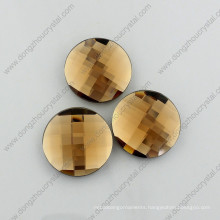 Multicolor Decorative Flat Back Round Glass Beads for Garment