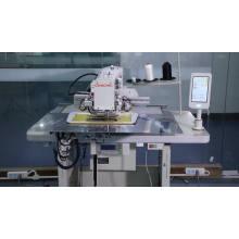 máquina de costura de agulha dupla com controle por painel de toque