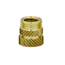 M4 press-in and injection knurled brass insert nut
