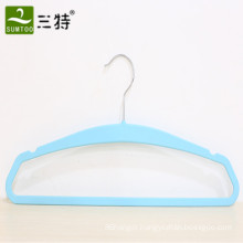 cheap rubber color thin plastic hanger