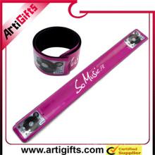 Cheap custom reflective snap armband
