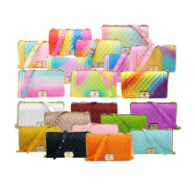 Wholesale High Quality Lady Handbag Colorful Pvc Shoulder Crossbody Bags The Lady Jelly Purse