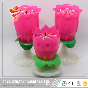 Preço barato Rose Shape Candles Birthday Song Candles