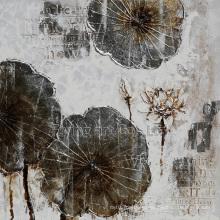 Retro Craft Art Oil Painting for Lotus Flower