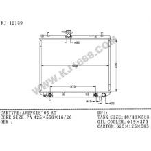 Radiador automático de aluminio promocional para Toyota Avensis'05 Azt250 en