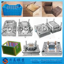as caixas plásticas moldam o molde da caixa do transporte das aves domésticas da modelagem por injeção das caixas