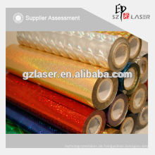 Bopp / PET / PVC holographische Folie, Laser Verpackungsfolie, zum Laminieren und Bedrucken