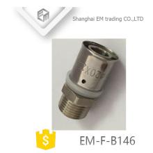 ЭМ-Ф-B146 Мужской резьба соединитель равный диаметру прохода трубы PEX-Аль-PEX с совместной