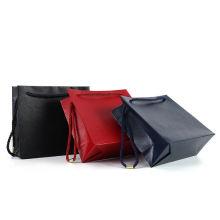 New Simple Design Custom Logo Shopping Use Gift Brown Kraft Paper Bag With Ribbon Handles