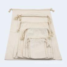 custom printed logo organic cotton gift string bag small canvas drawstring bags